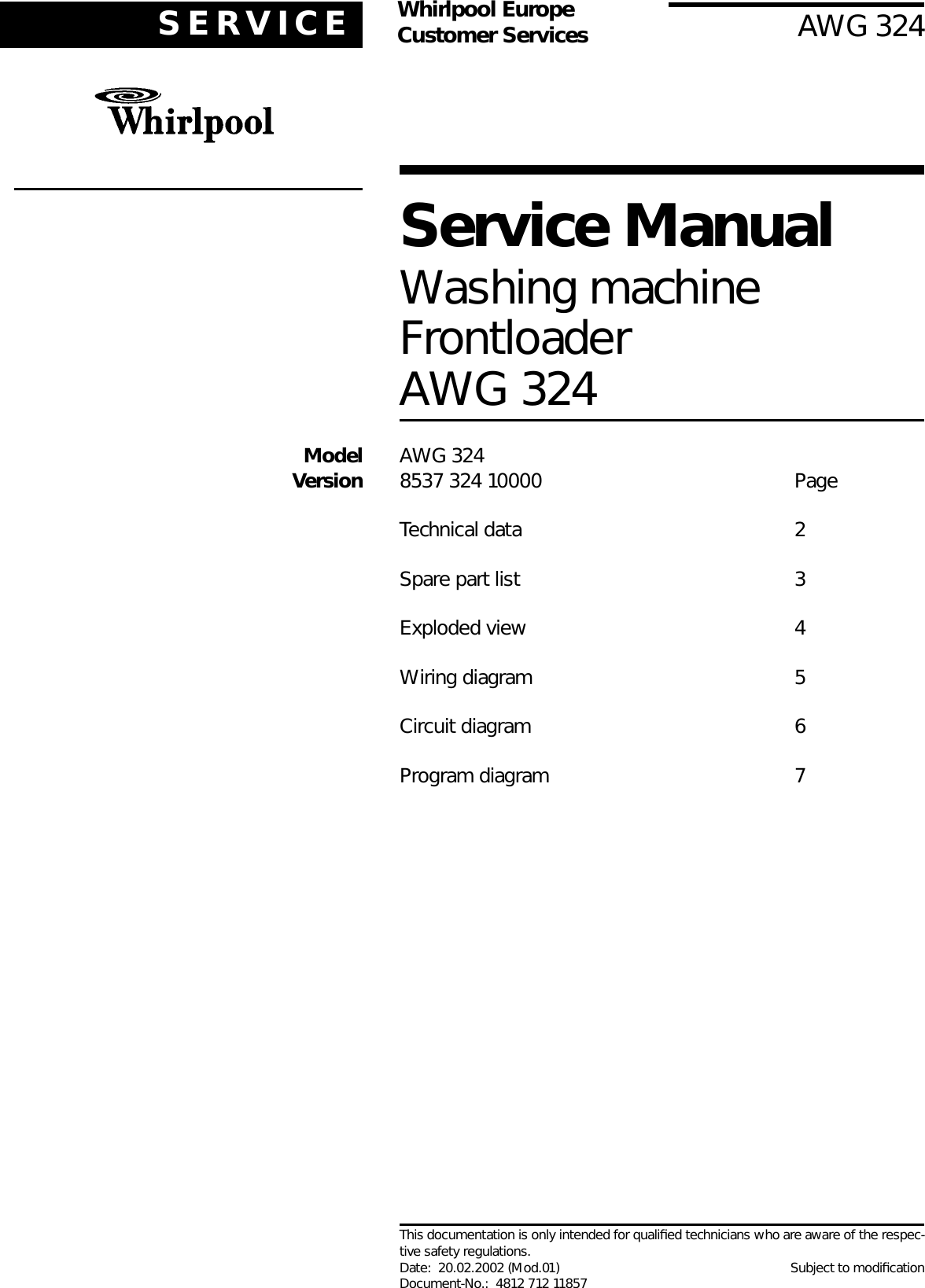 Whirlpool Washer 324 Users Manual Front Loader Washing Machine Wiring Diagram