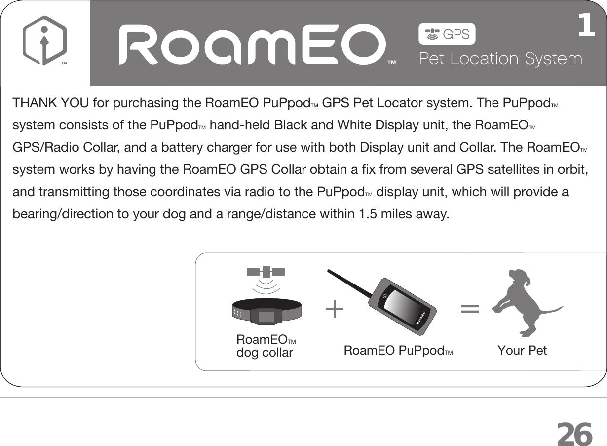 white bear technologies rpupv1 roameo puppod gps pet location system rh usermanual wiki Manuals in PDF User Manual Template