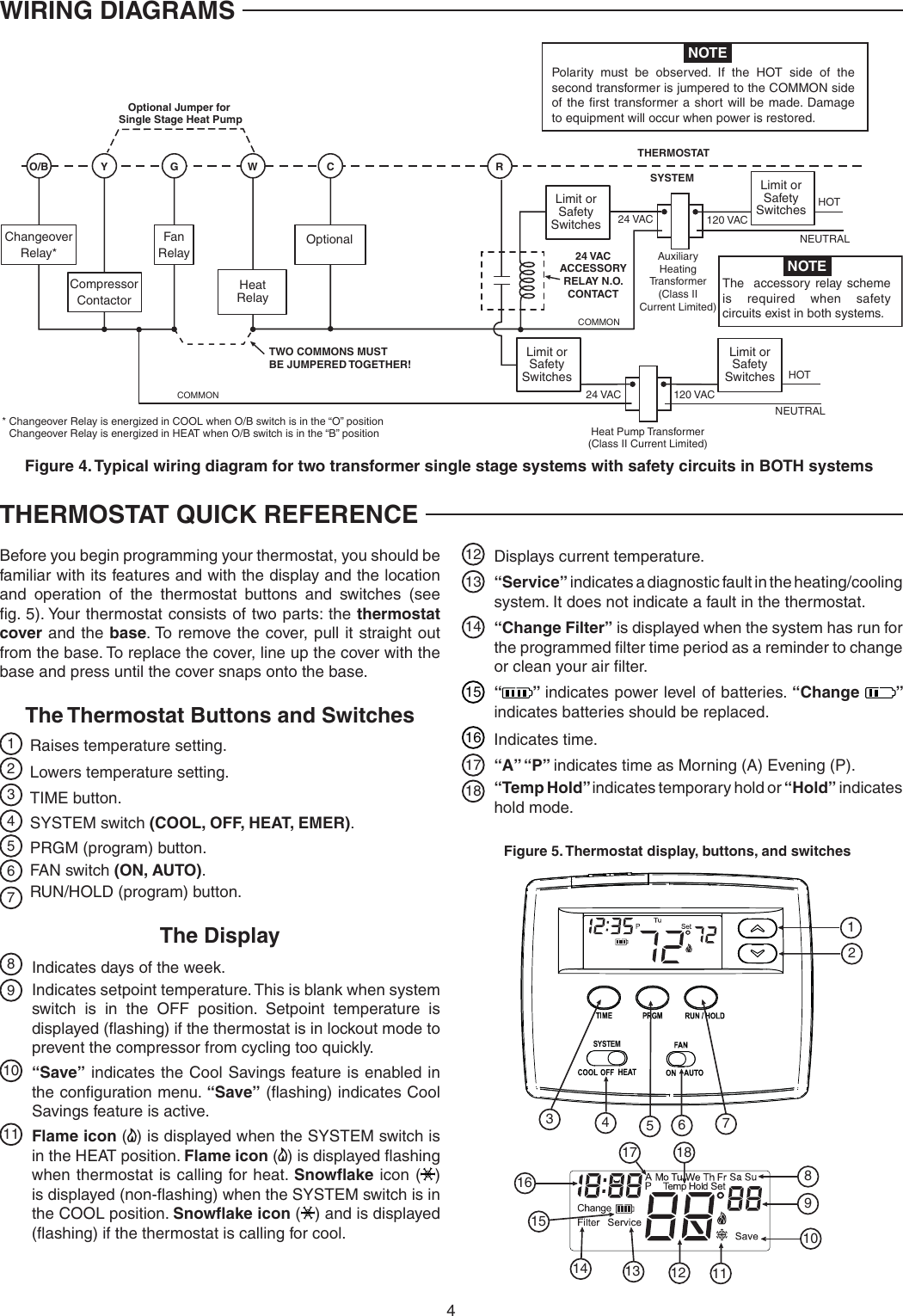 White Rodgers 1f80 0224 Emerson Blue 2 Single Stage Thermostat Wiring Diagram Manuals Page 4 Of 12