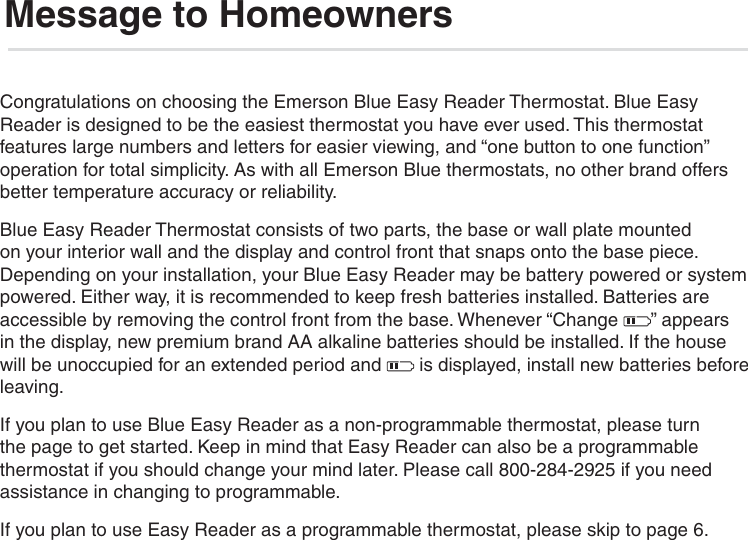 White Rodgers 1F95Ez 0671 Emerson Blue Easy Reader