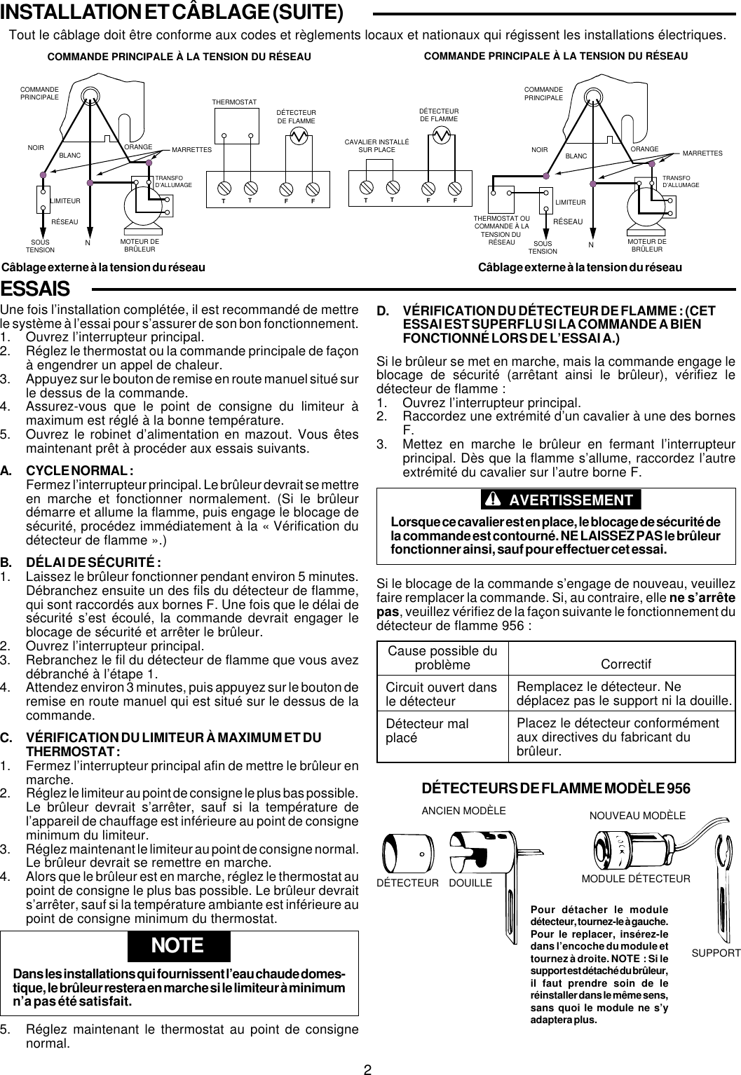 White Rodgers 668 401 Kwik Sensor Cad Cell Relays Installation Relay Wiring Diagram Page 5 Of 6