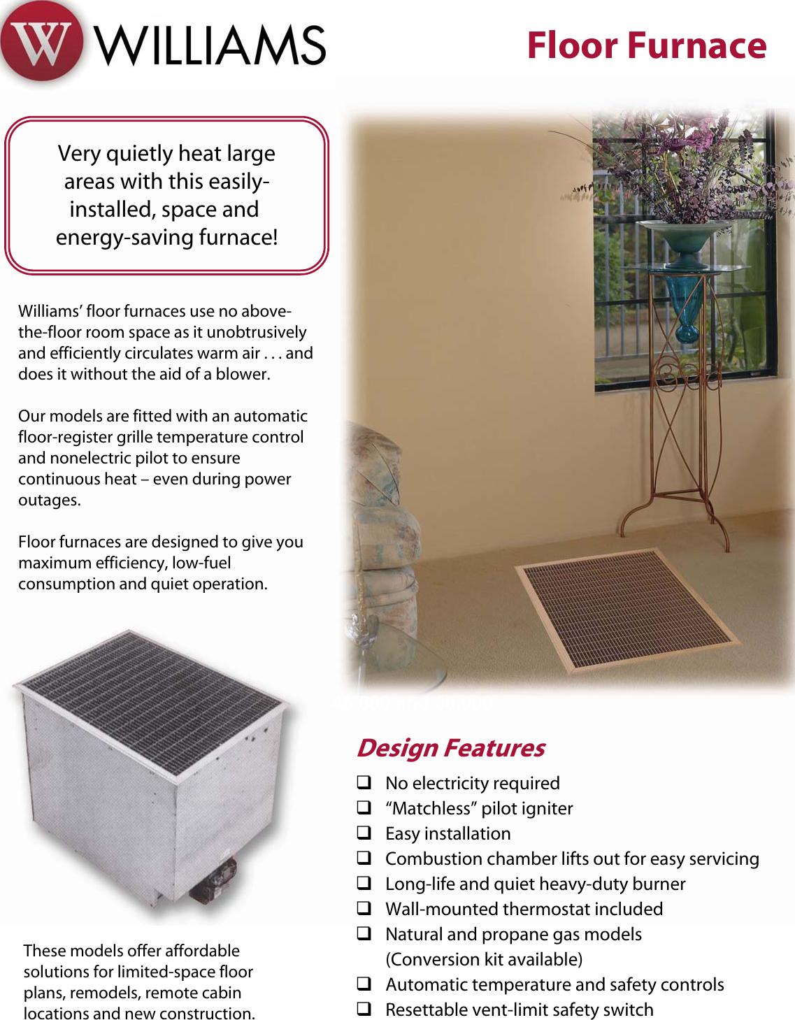 Floor Furnace Thermostat