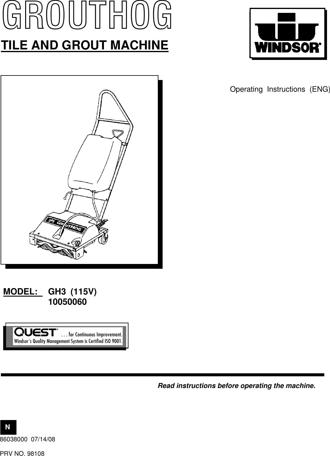 windsor saber compact sc20 user manual Array - windsor grouthog gh3 users  manual 86038000 cvr rh usermanual wiki ...