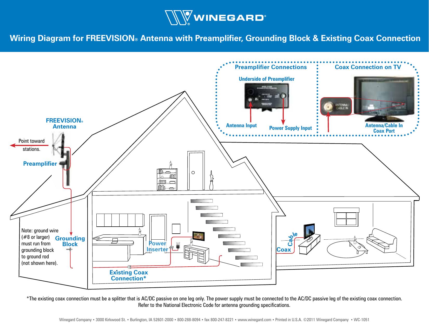 Winegard Power Supply Ap 8700 Users Manual