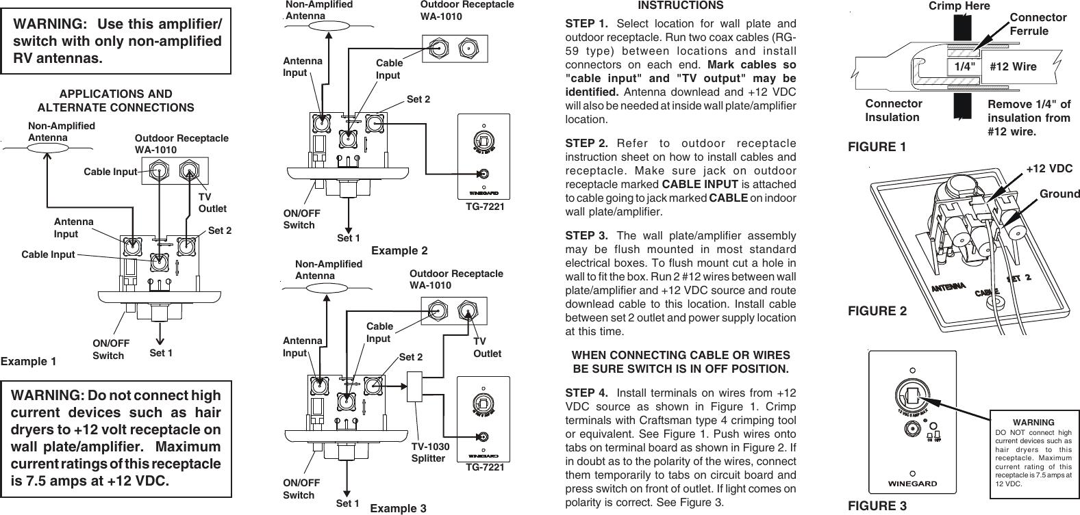 Winegard Satellite Tv System Ra 7296 Users Manual 2451489 Wiring Diagram