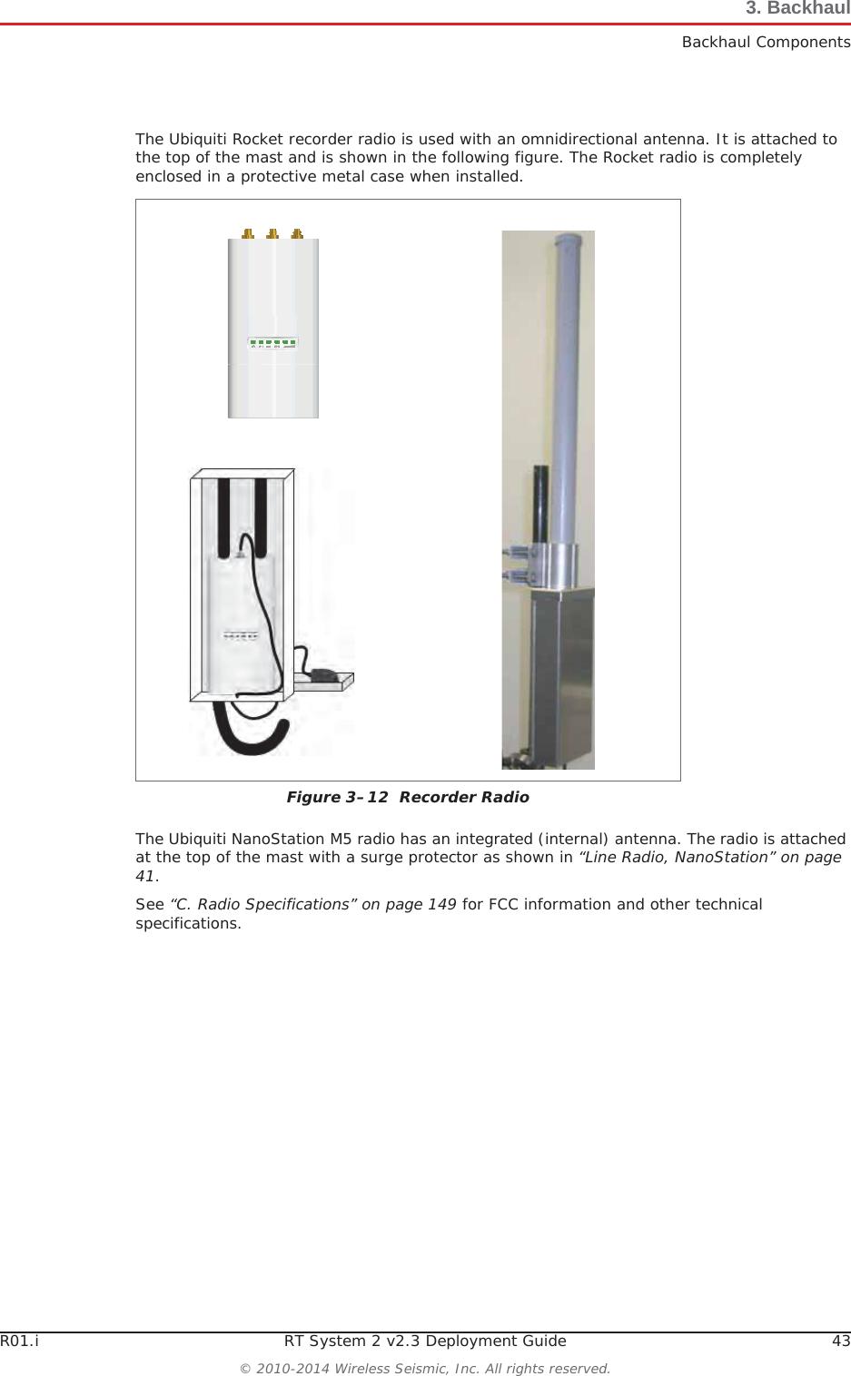 Wireless Seismic 00105 Wireless Remote Unit User Manual