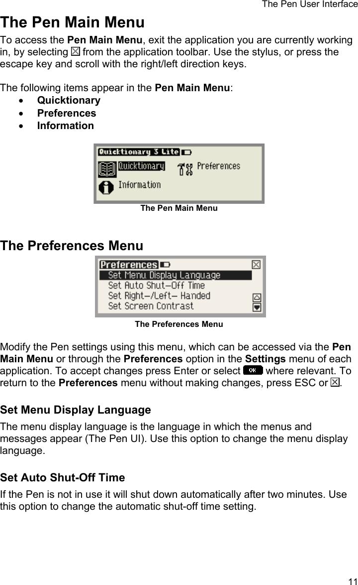 Wizcom Quicktionary 3 Lite Users Manual