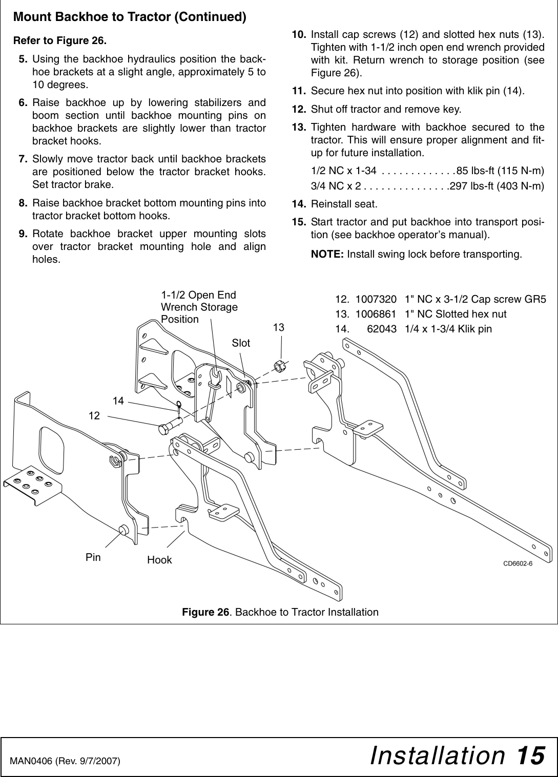Woods Equipment 1013460 Users Manual Sub Frame Mounting Kit