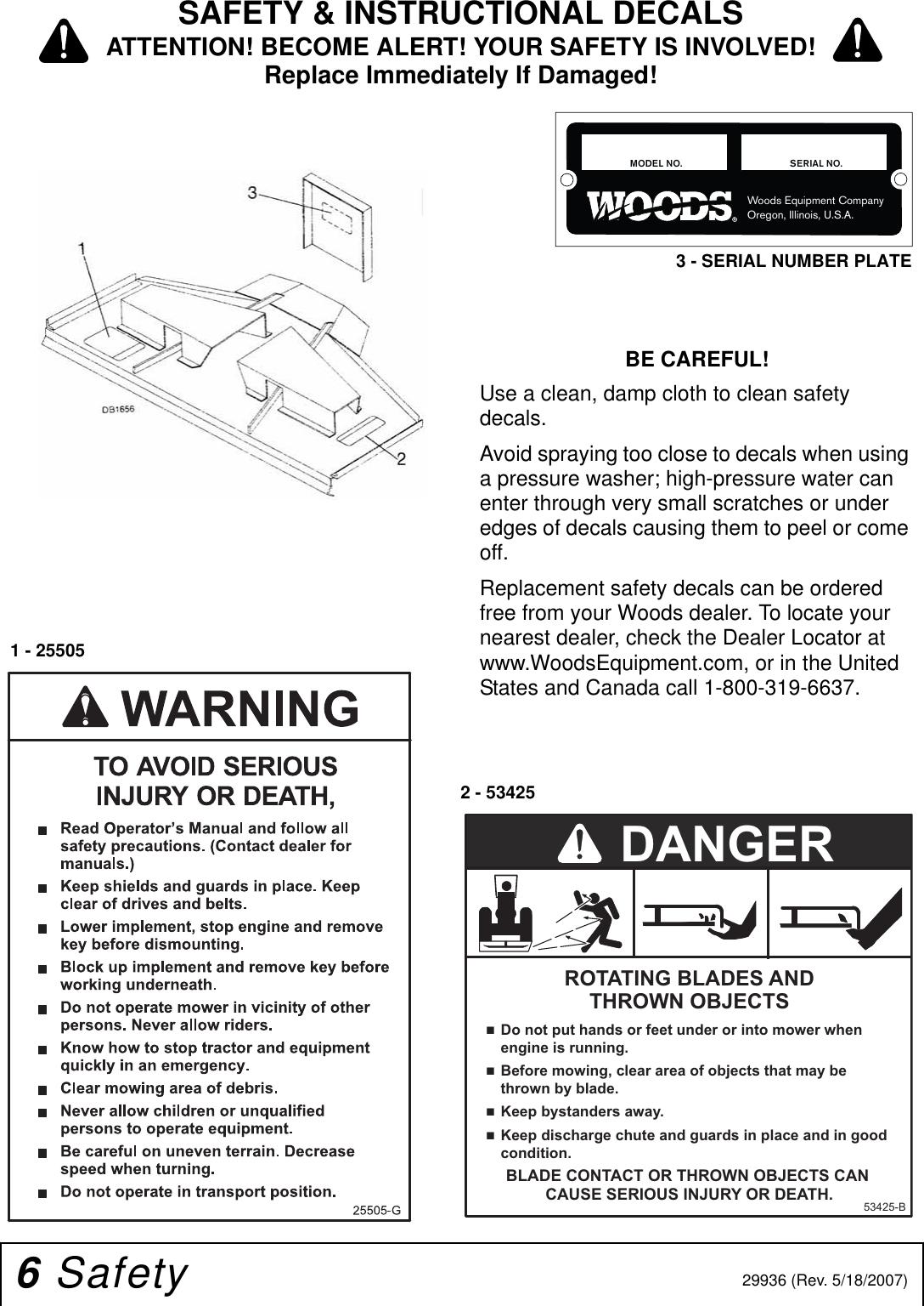 Woods Equipment L36 Users Manual L59 & L306 AC/B C