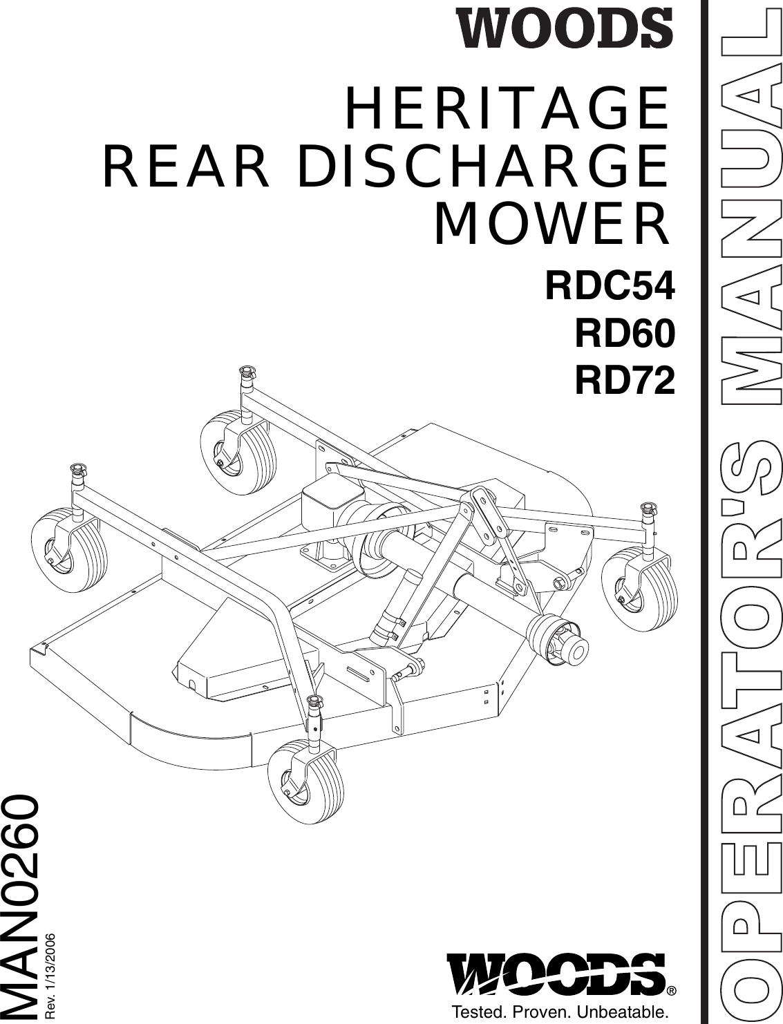 Woods Equipment Rdc54 Rd60 Rd72 Users Manual Heritage Rear