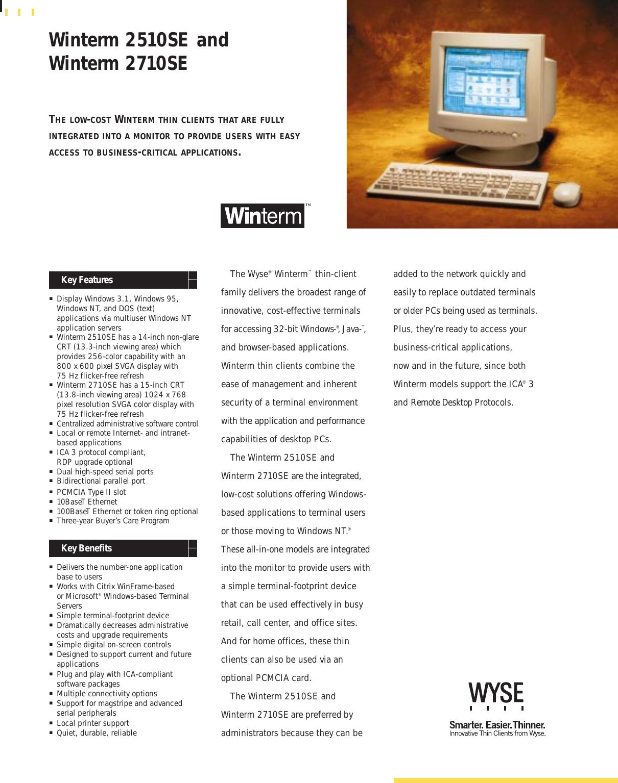 Wyse Winterm 2510Se Users Manual