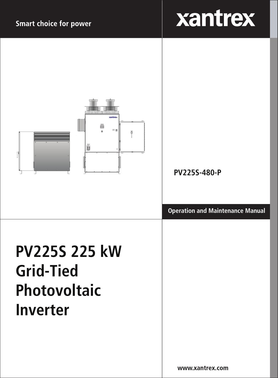 Xantrex Pv225S 480 P Users Manual 152607_rev B on