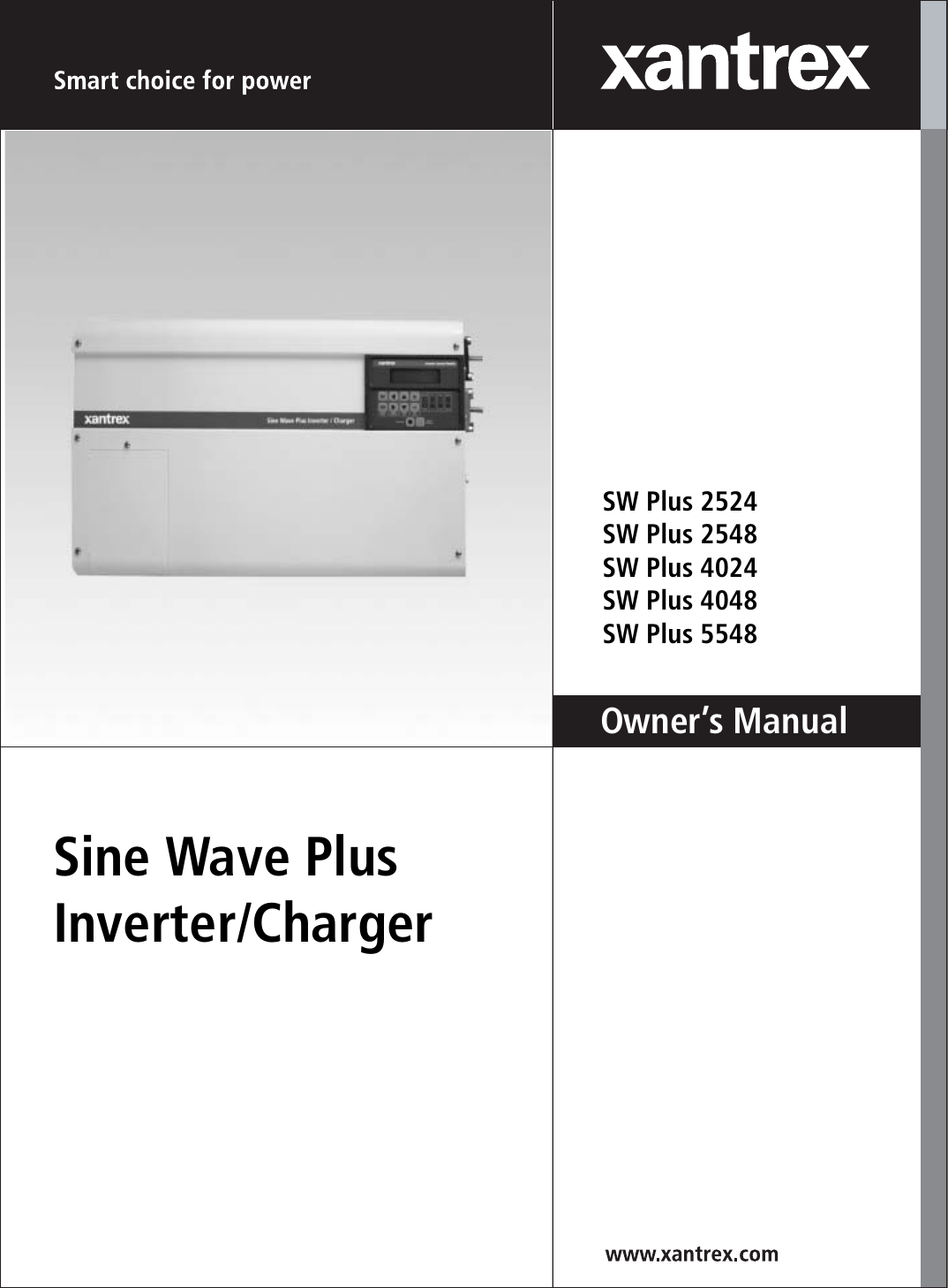 Xantrex Sw Plus 2524 Users Manual 976 0043 01 02 Rev B Sine Wave Circuit 5000 Watt Power Inverter Schematic Grid Tie Micro Gel