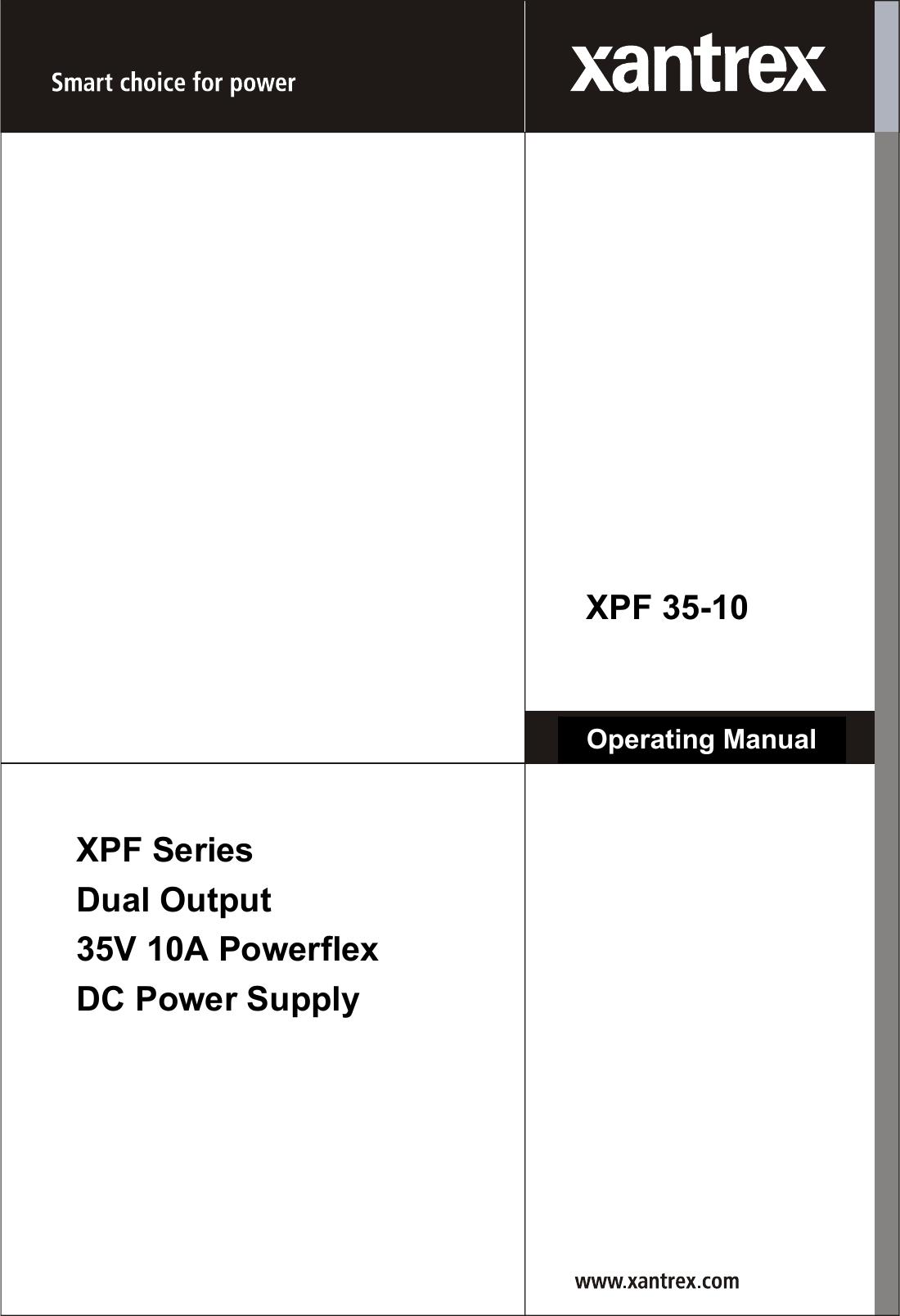 Xantrex Xpf 35 10 Users Manual