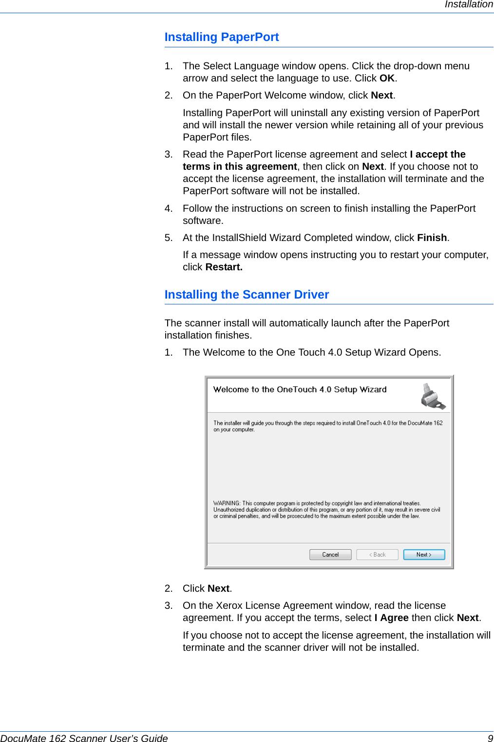 Xerox DocuMate 162 Scanner User's Guide If Not Then DM162 Guide OT4 EN