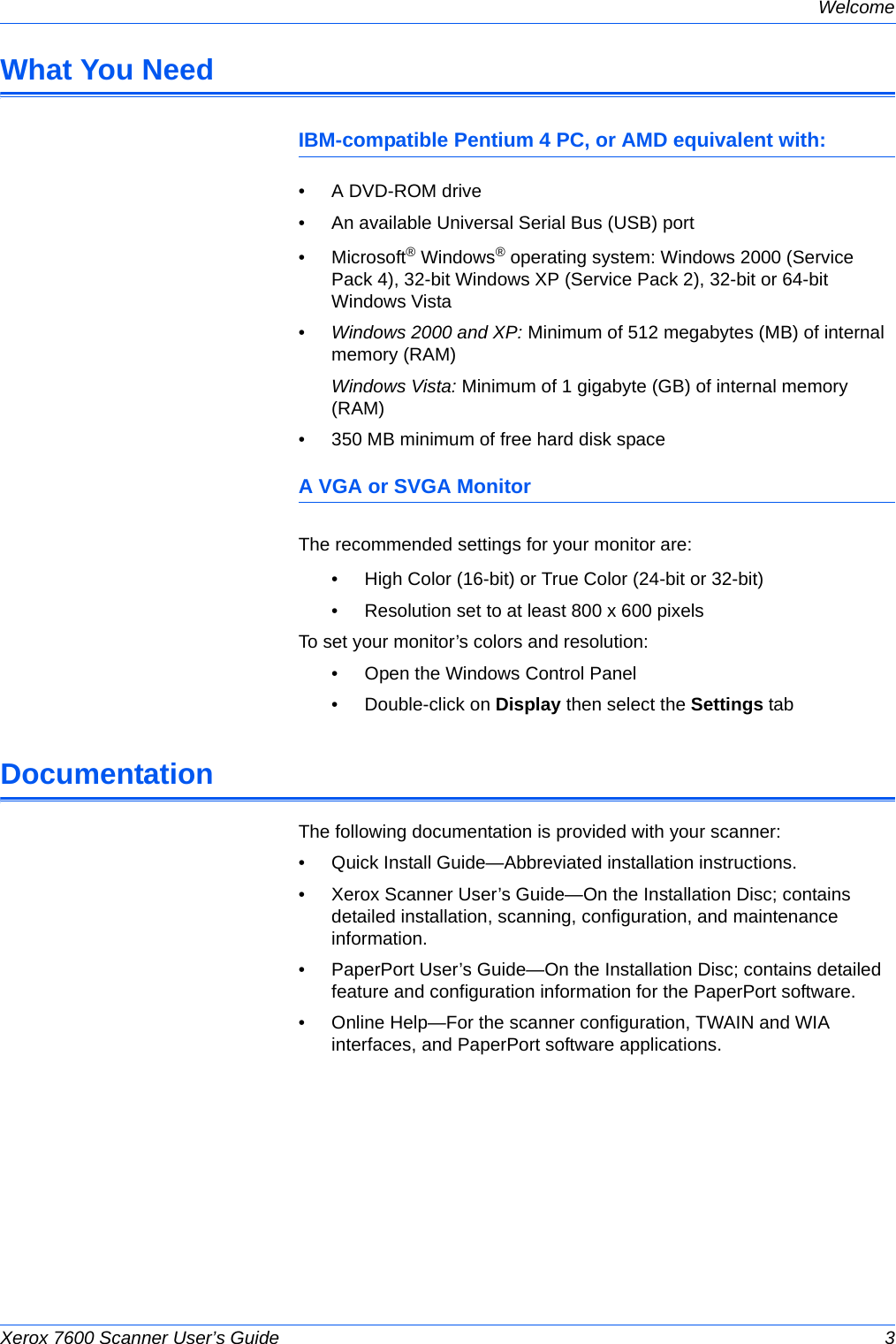 Xerox 7600 Scanner User's Guide If Not Then X7600 Guide OT4 EN
