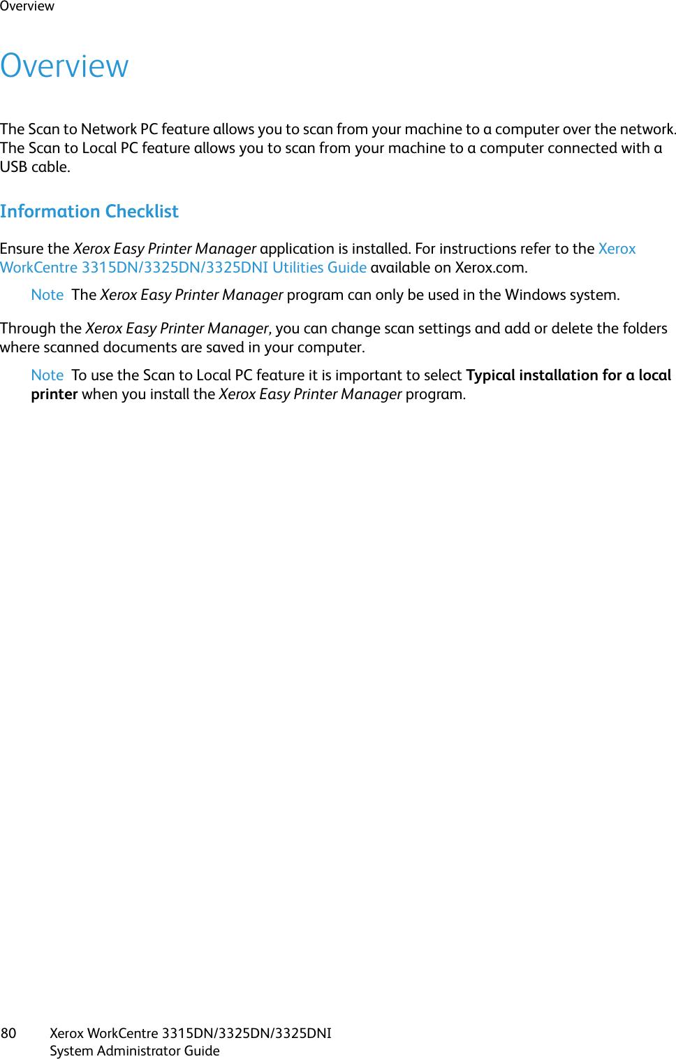 Xerox Network Scan Utility