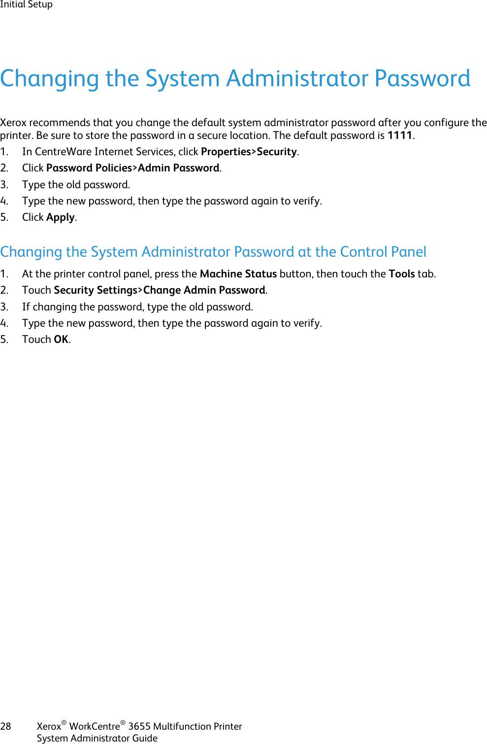 Xerox Workcentre 3655 Administrators Guide Xerox® WorkCentre