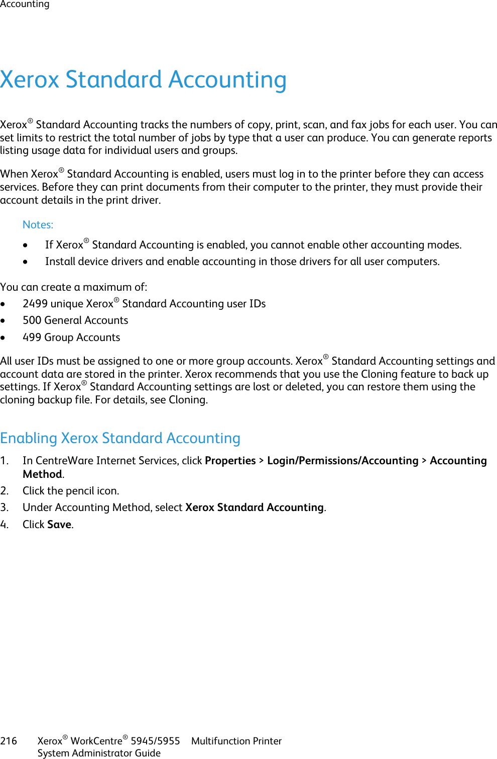 Xerox Workcentre 5945 5955 Administrators Guide Xerox® WorkCentre