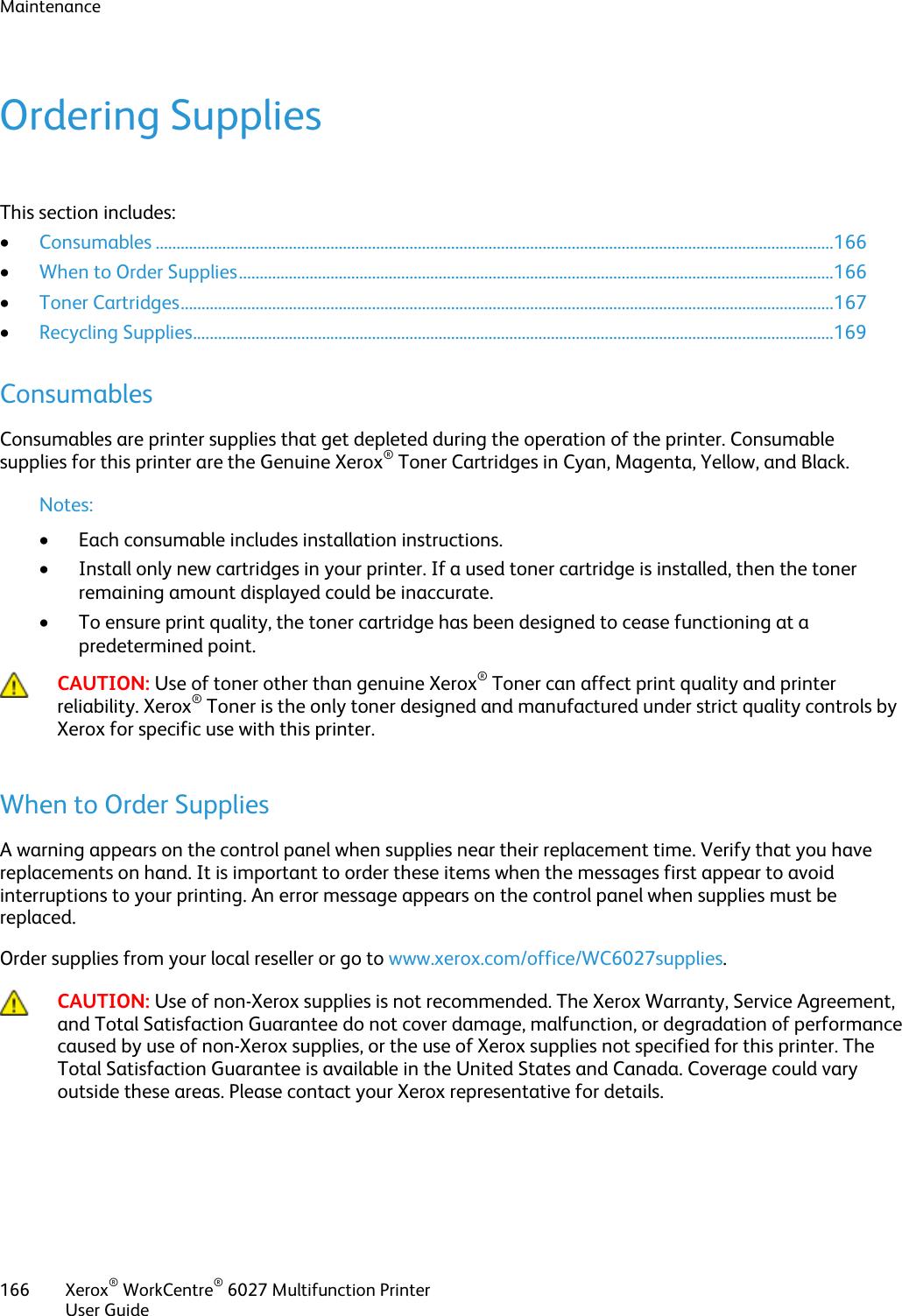 Xerox Workcentre 6027 Users Manual Xerox® WorkCentre