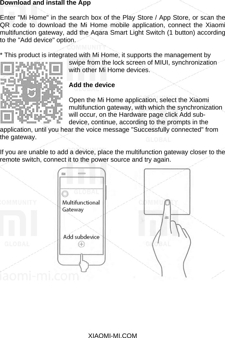 Xiaomi Aqara Smart Light Wall Remote Switch EN