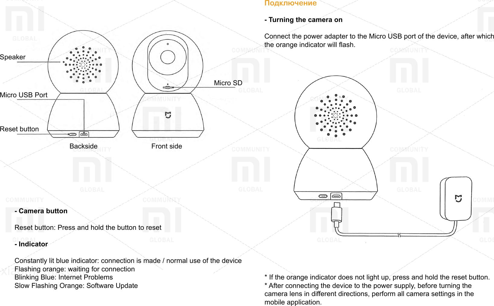 Xiaomi Mi Jia 360° Smart Home PTZ Camera EN