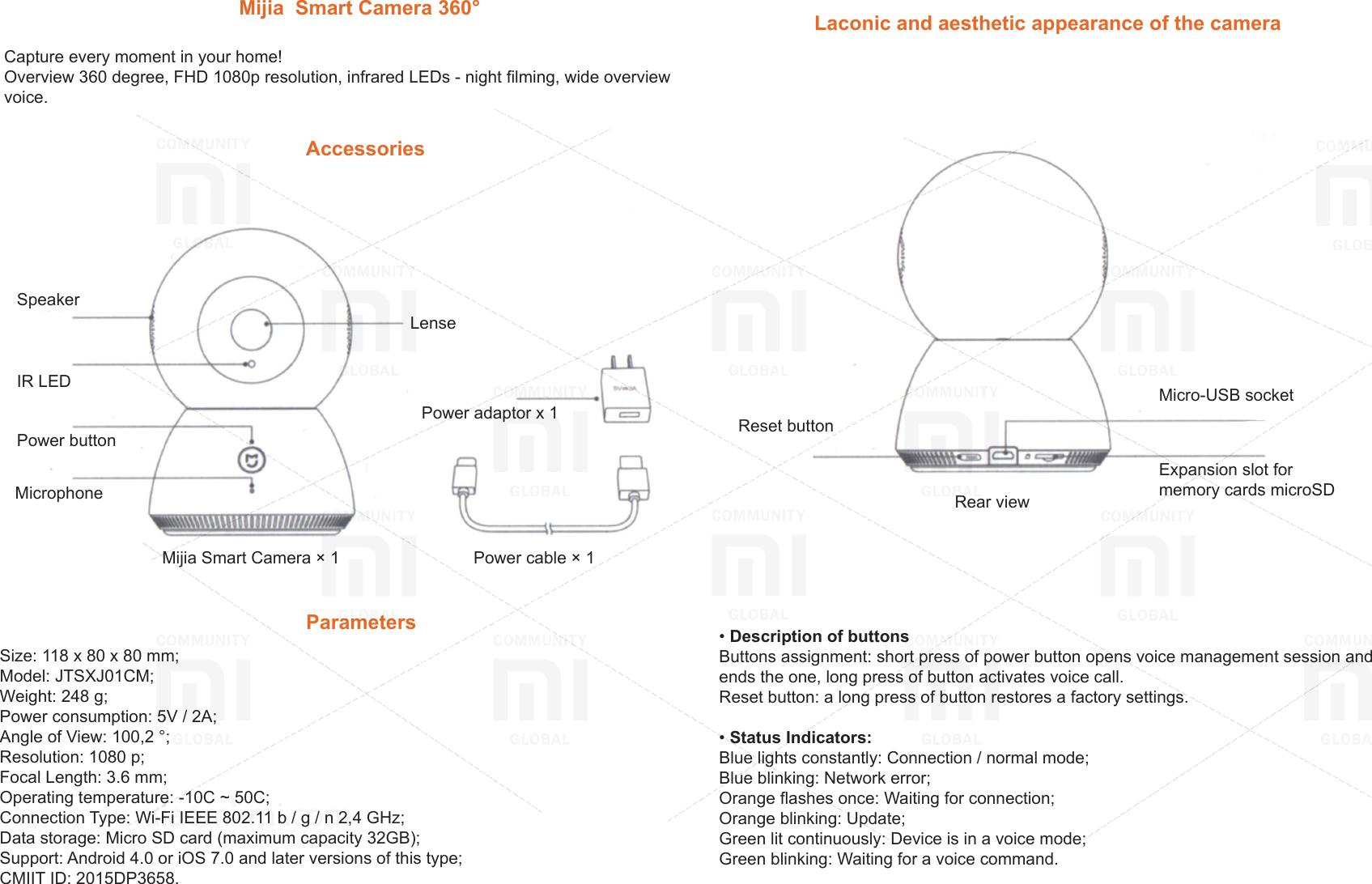 Xiaomi Mijia Smart Camera 360 EN