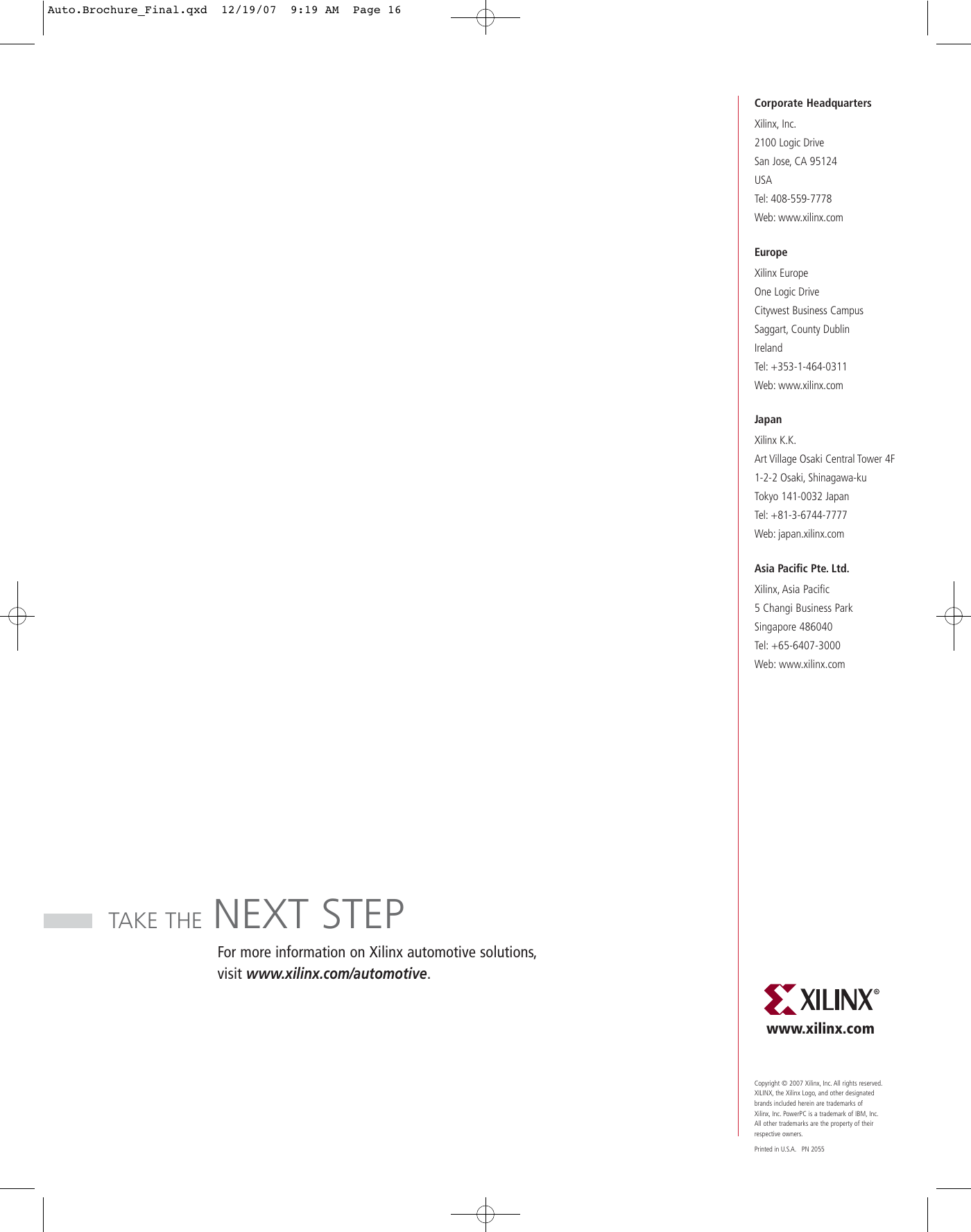 Xilinx Automotive Brochure User Manual To The 666f57c7 b26d