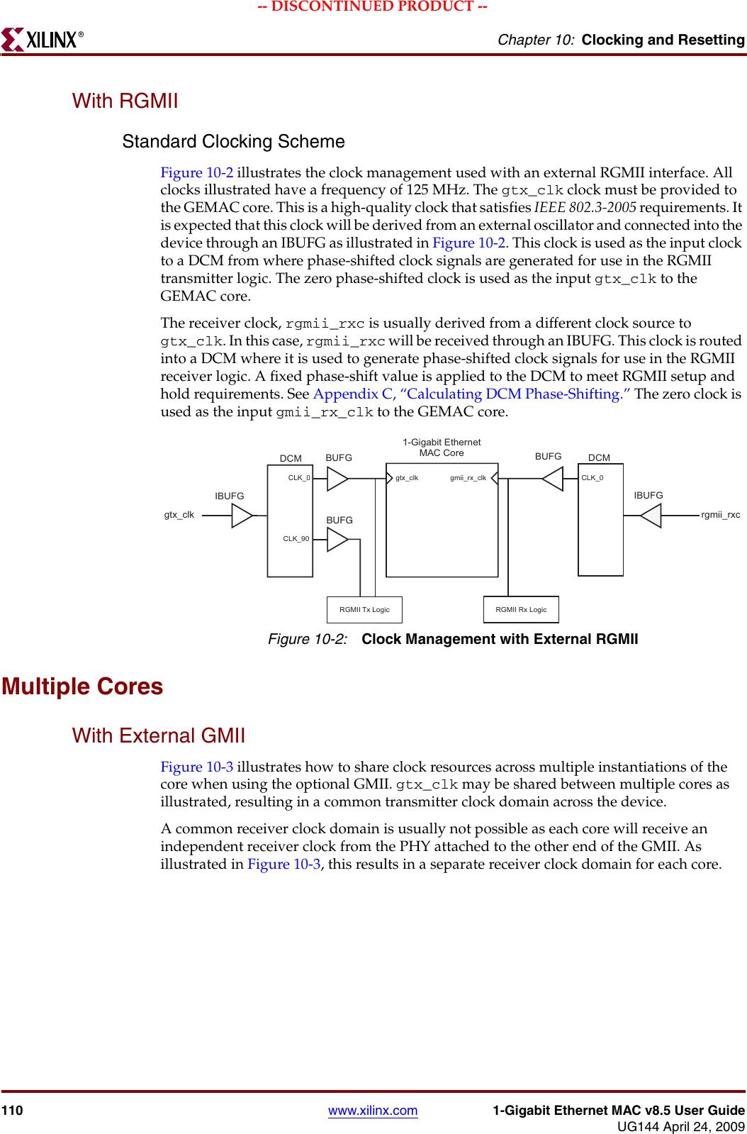 Xilinx Logicore Ug144 Users Manual UG144,1 Gigabit Ethernet