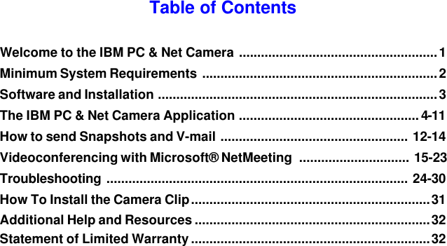 DRIVER FOR IBM NETCAMERA