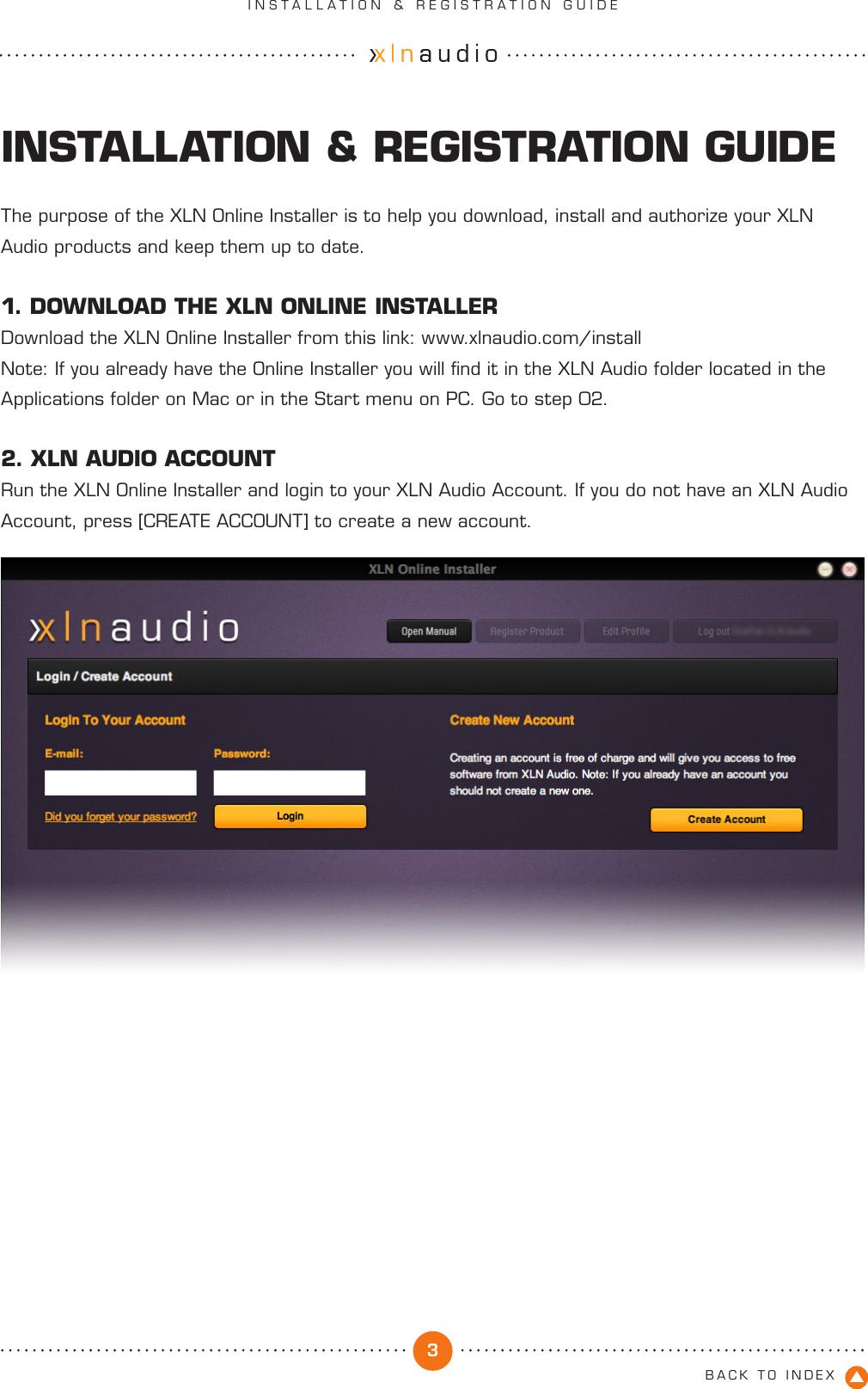 XLN Installation & Registration Guide