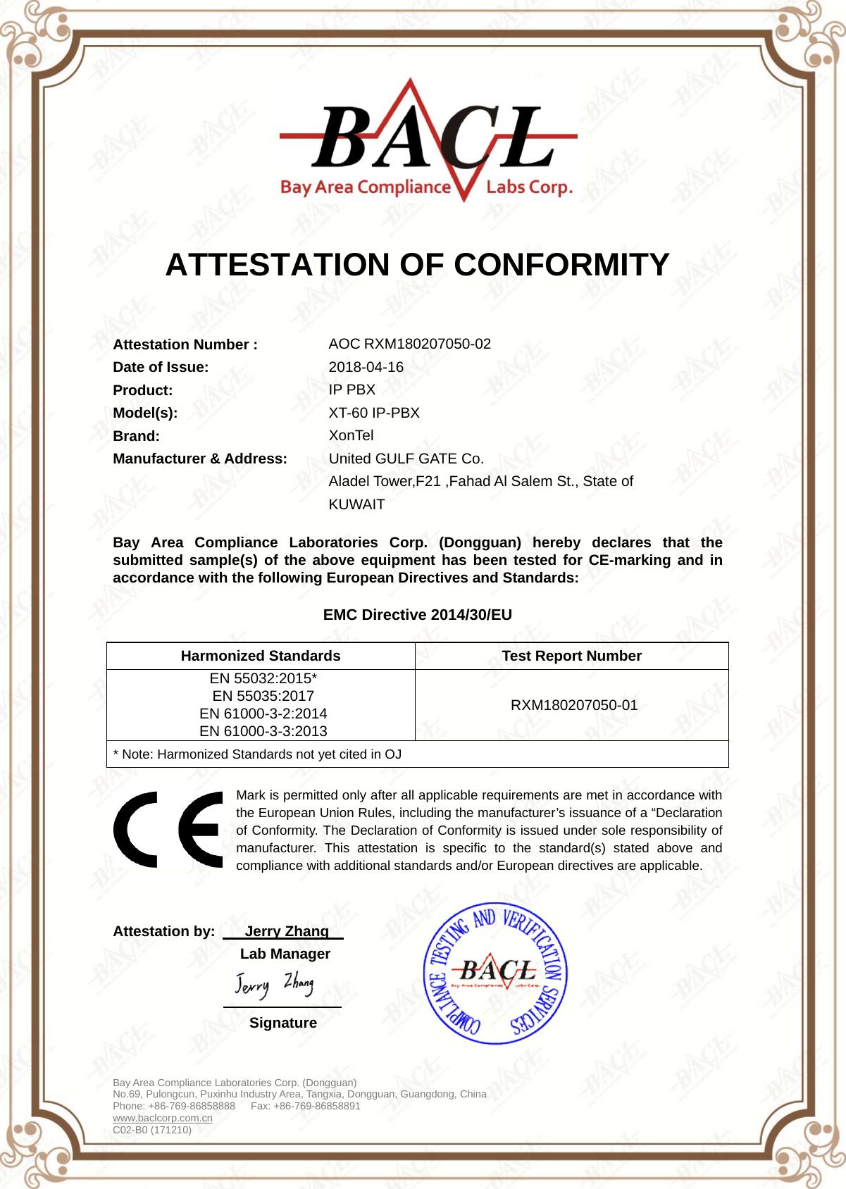 certificate emc b0 em