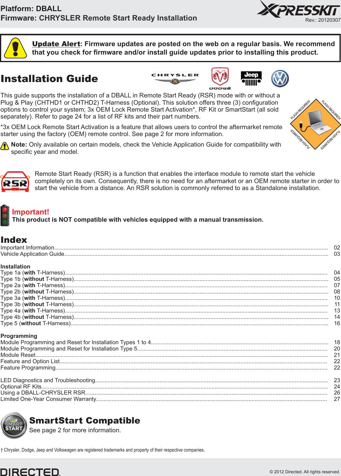 Xpress Dball Users Manual 607chthd1 2004 Dodge Caravan 38lwiring Diagramoemfactory Alarm System