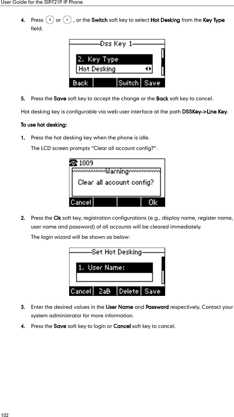 YEALINK T21P IP Phone User Manual
