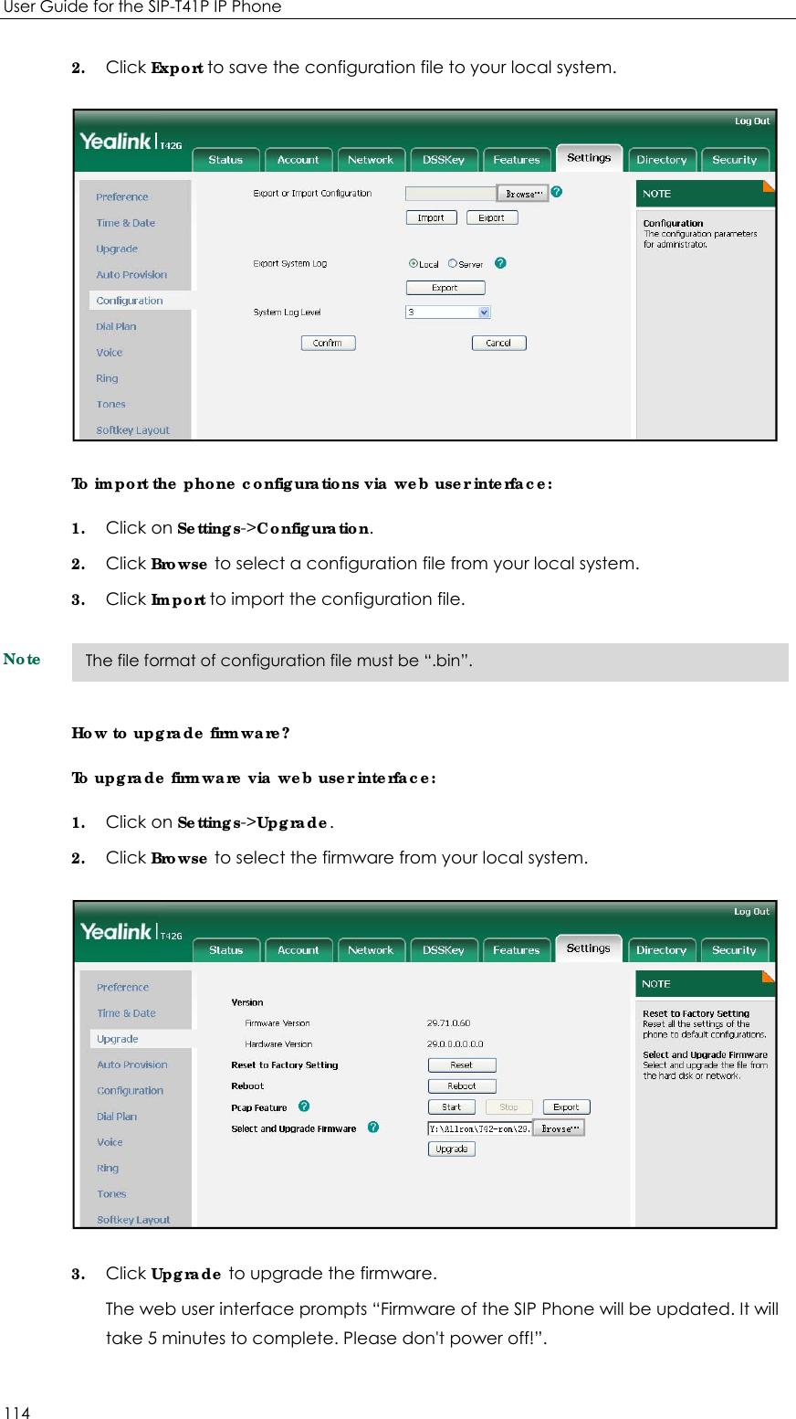 YEALINK T41P IP Phone User Manual