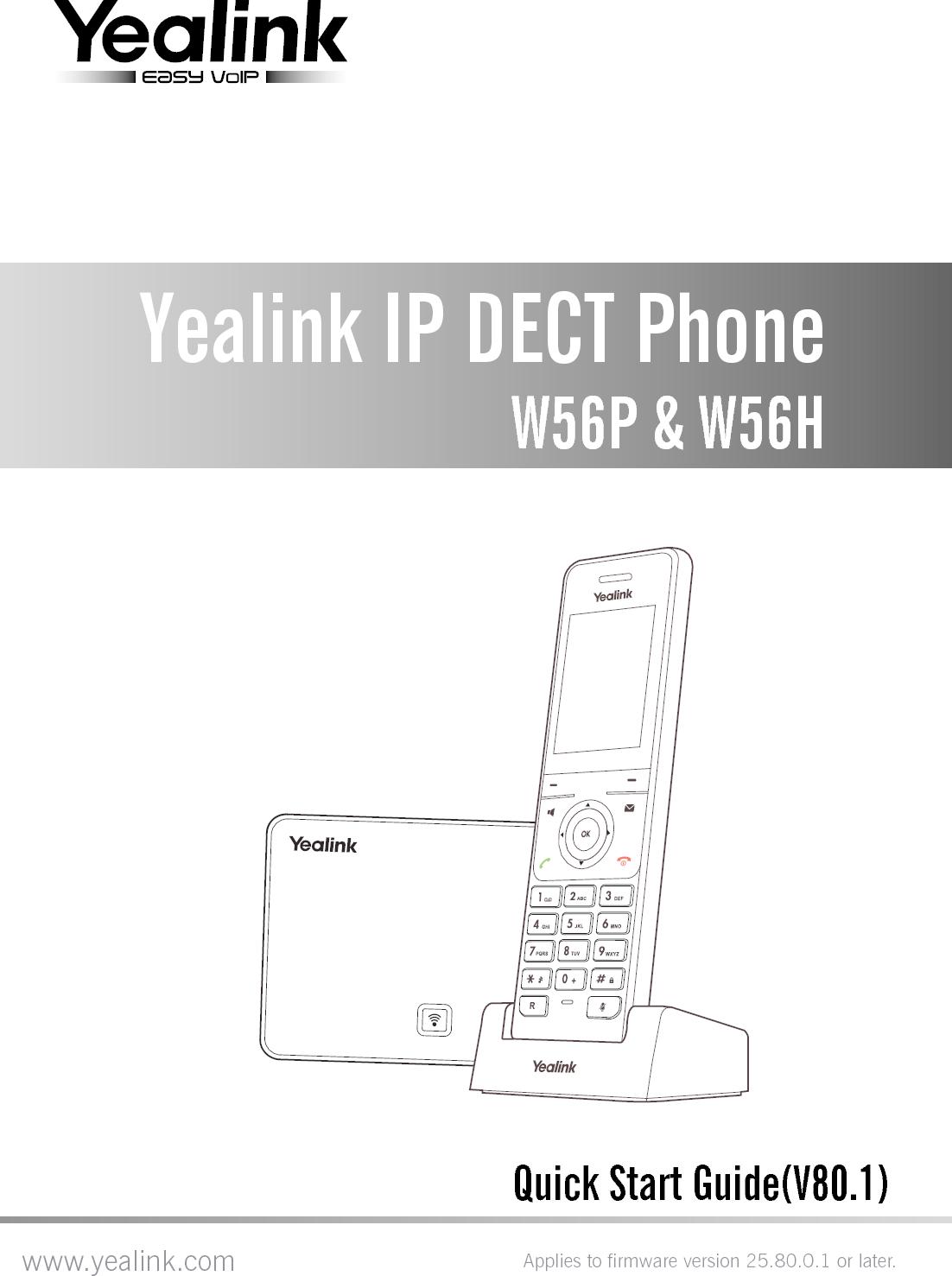 Yealink W56h Dect Ip Handset Manual Guide