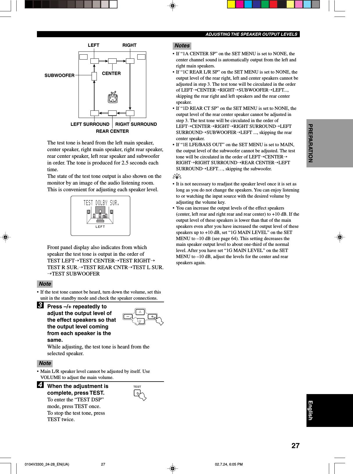 Yamaha 0101V3300_Cau_EN(UA) RX V3300 Manual 01 Om
