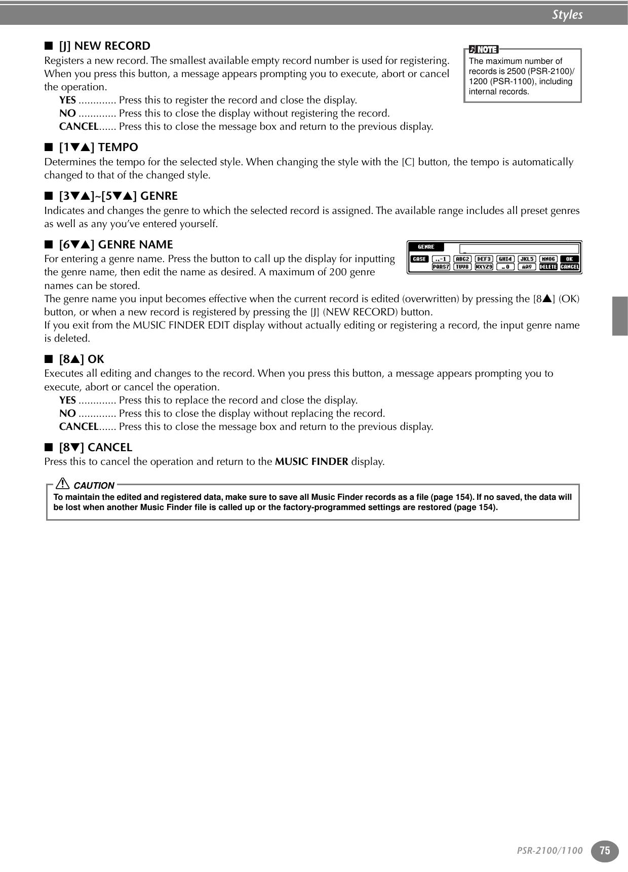 Yamaha 1100 Owners Manual PSR2100/1100_E