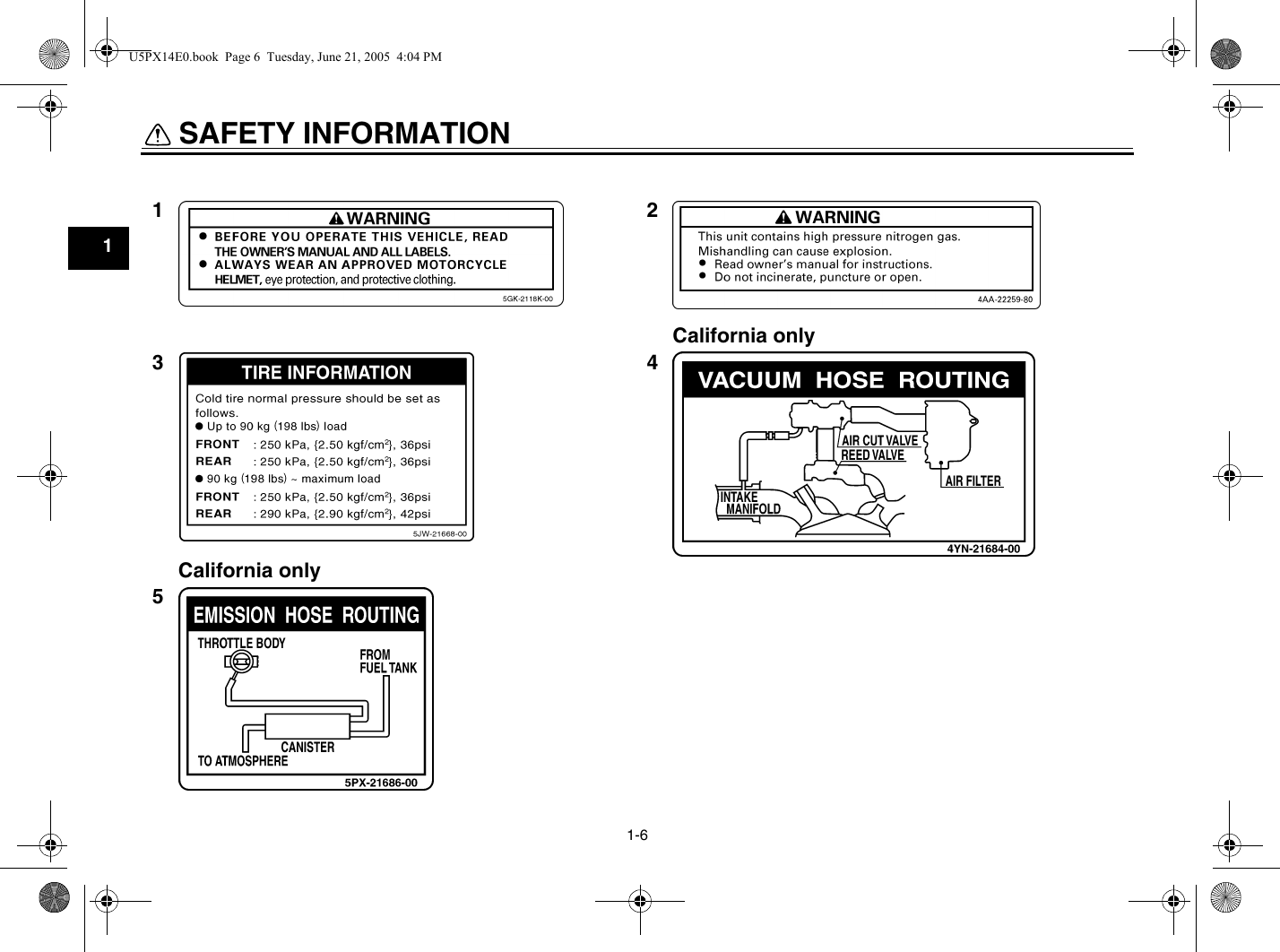 Yamaha 2006 Midnight Warrior Owners Manual on
