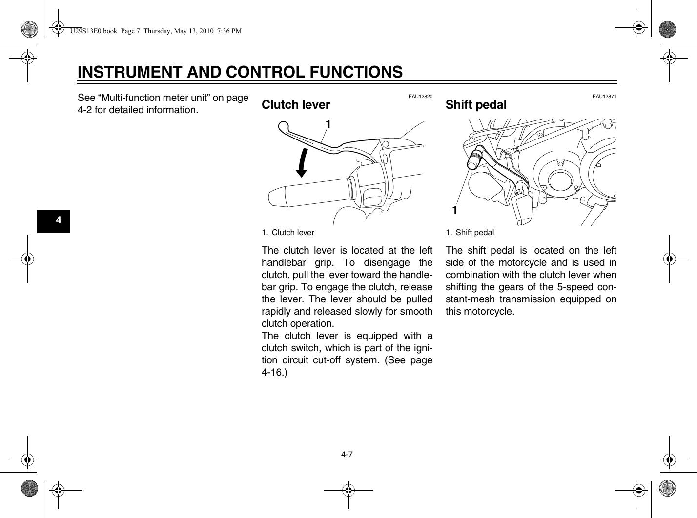 Yamaha 2011 Raider S Owners Manual