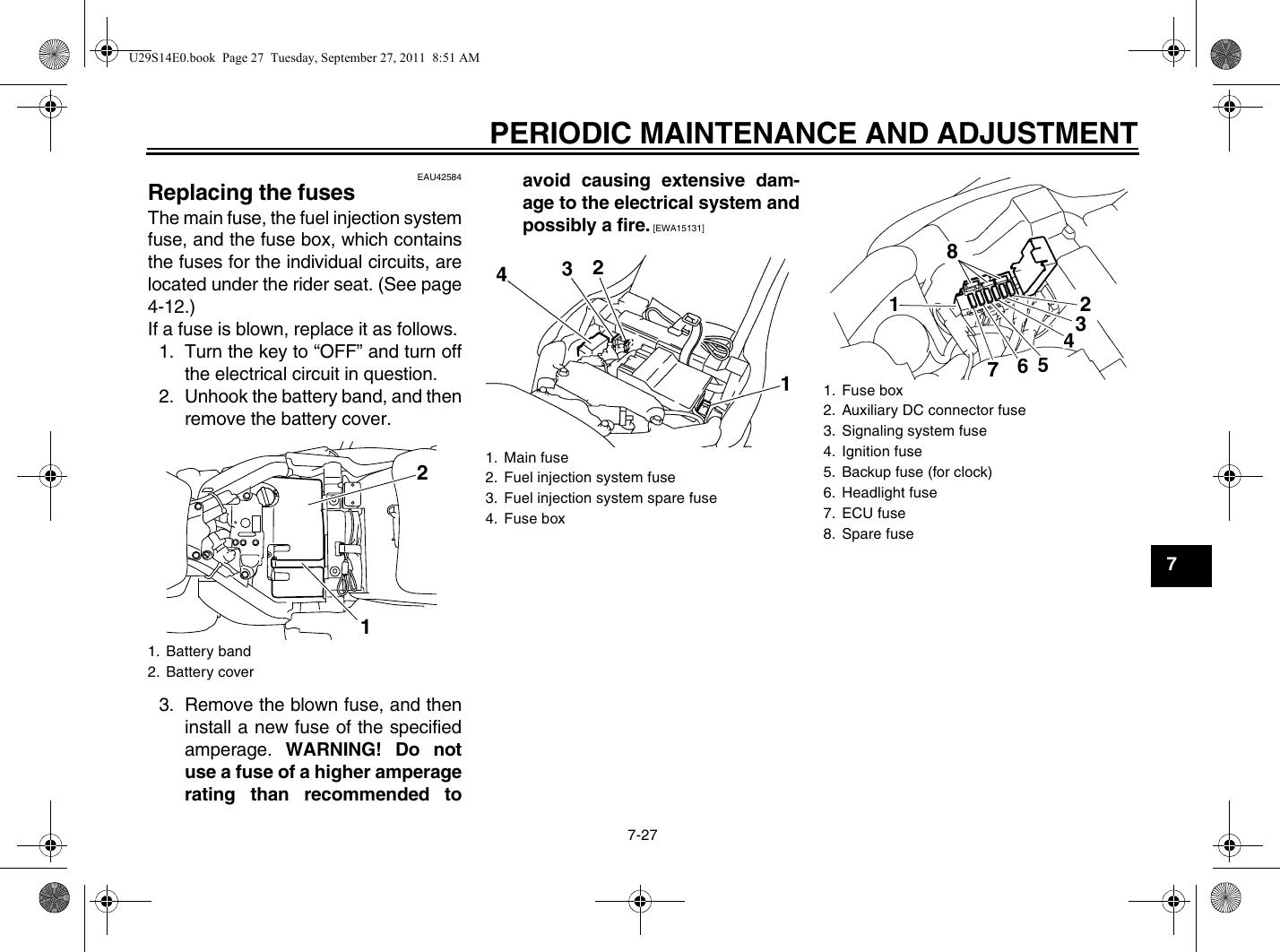 Yamaha Raider Fuse Box | Wiring Diagram