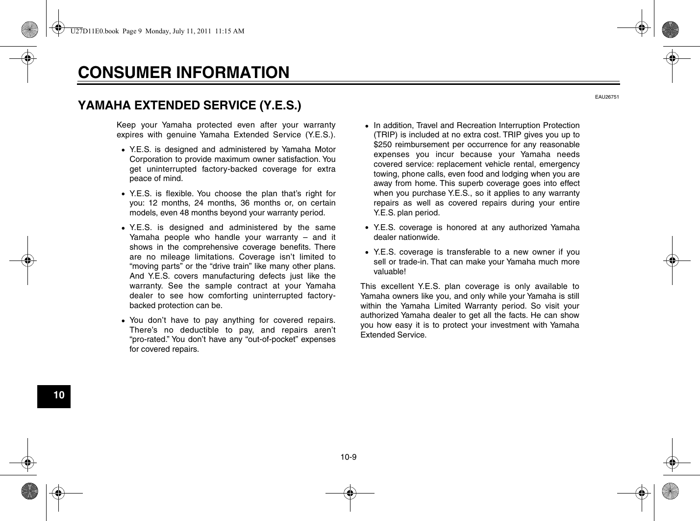 Yamaha 2012 Stryker Owners Manual