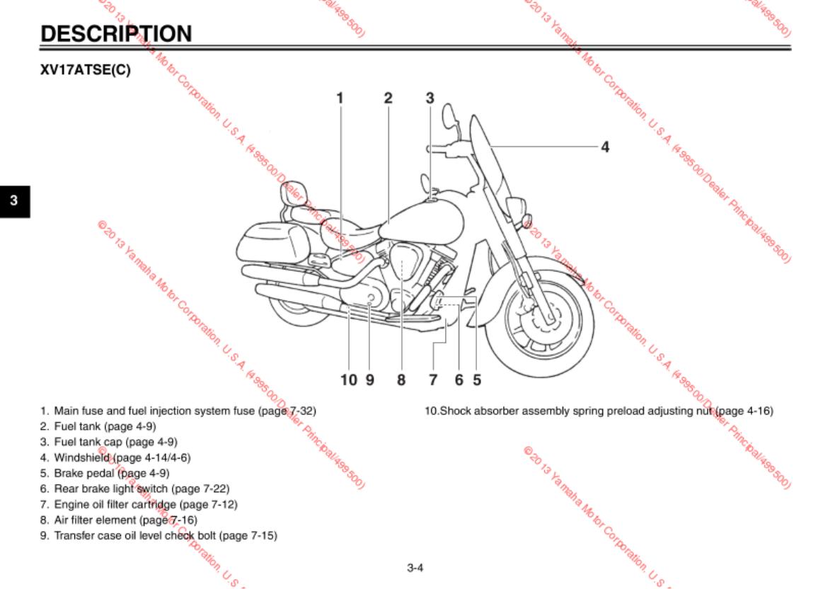 Yamaha 2014 Road Star S Owners Manual 7 3 Fuel Filter Diagram