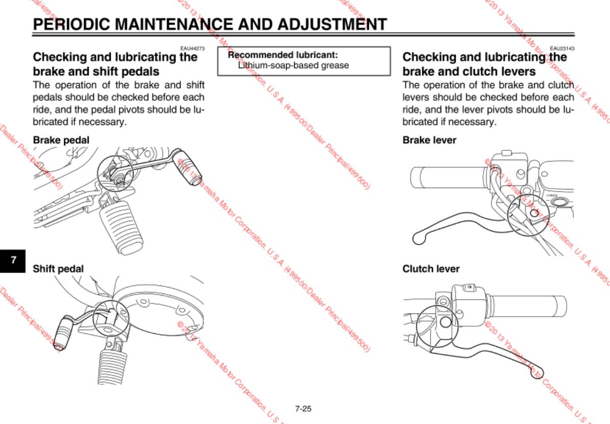 Yamaha 2014 Stryker Owners Manual Yama Wiring Diagram