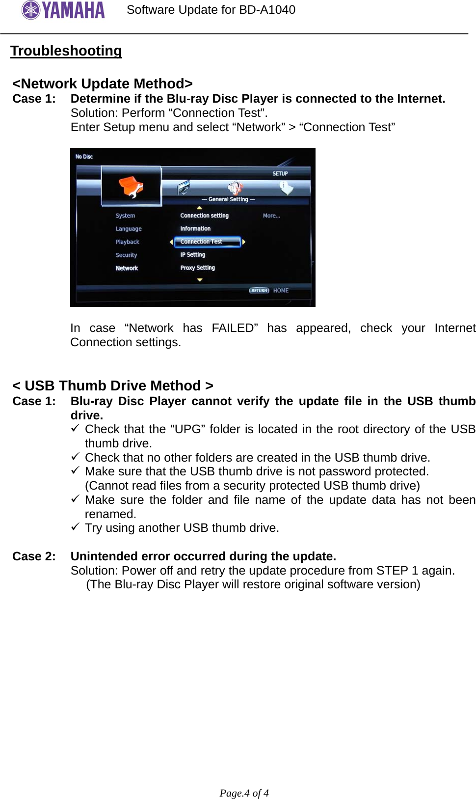 Yamaha Bda1040 Firmware Updatex Bd A1040 Software Update Version Out That The Original Schematic Was In Error This Has Been Updated Page 4 Of