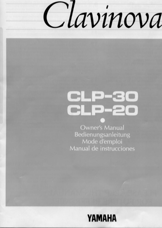 yamaha clavinova clp 20 owners manual rh usermanual wiki yamaha clavinova service manual pdf yamaha clavinova user manual