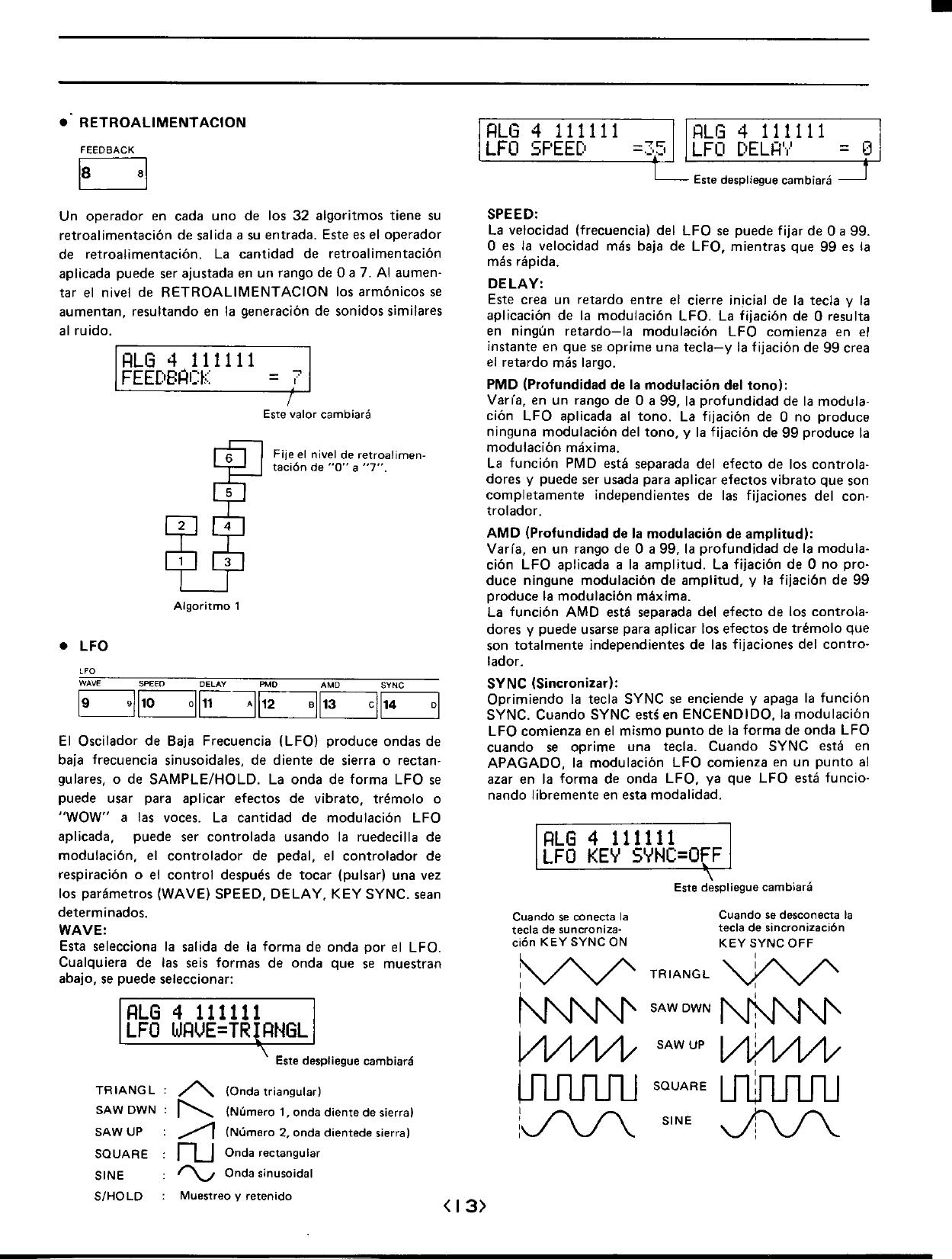 Yamaha DX7 Owner's Manual (Image) DX7S