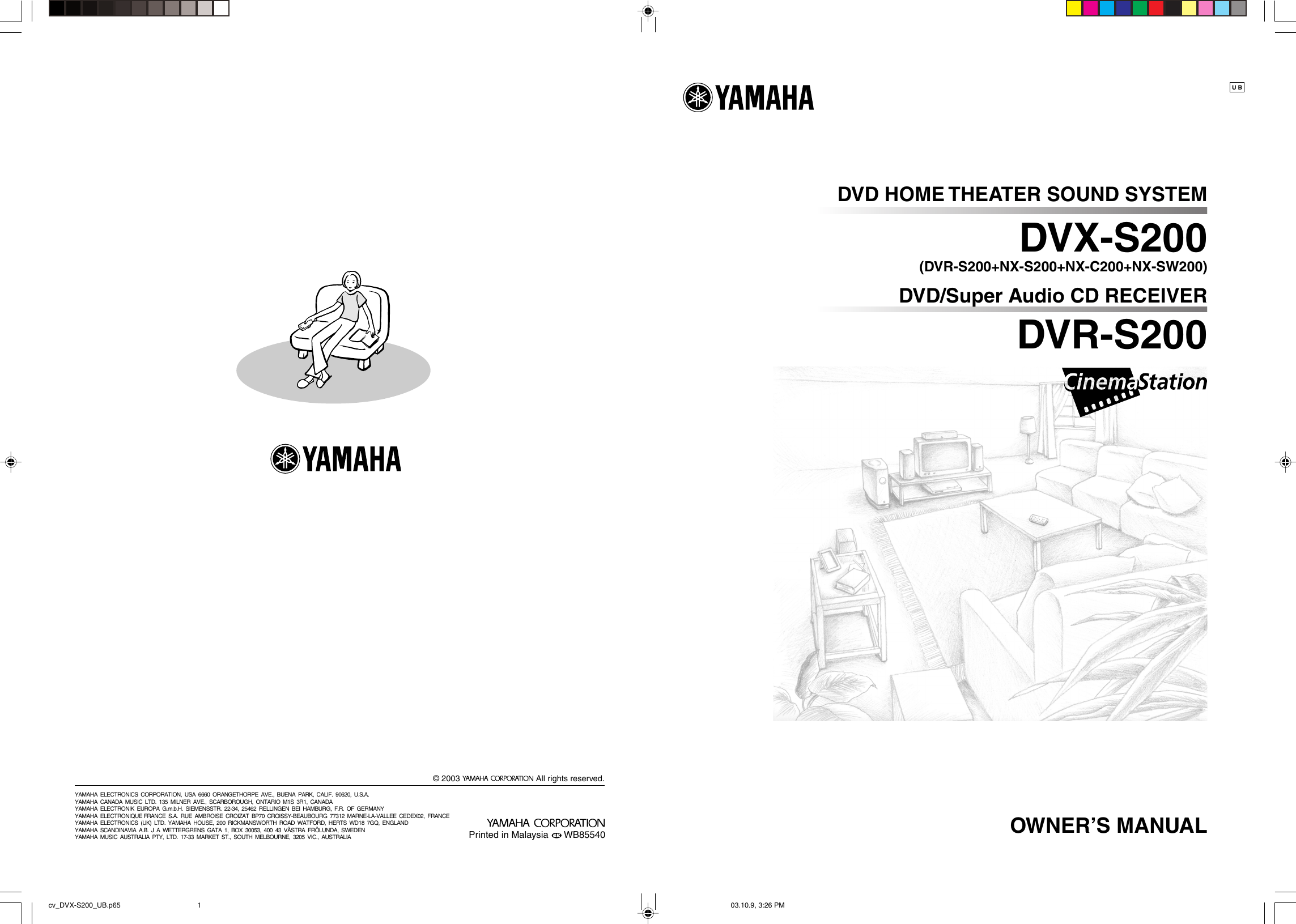 Yamaha Dvr S200 Owners Manual 001dvx S120 En