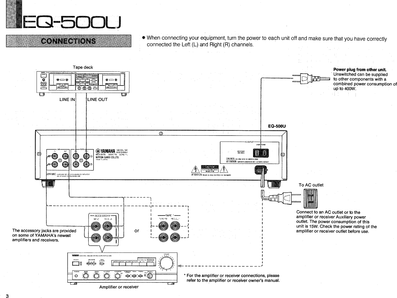 Yamaha Eq 500u Owners Manual To Reciever Wiring Diagram Page 4 Of 12