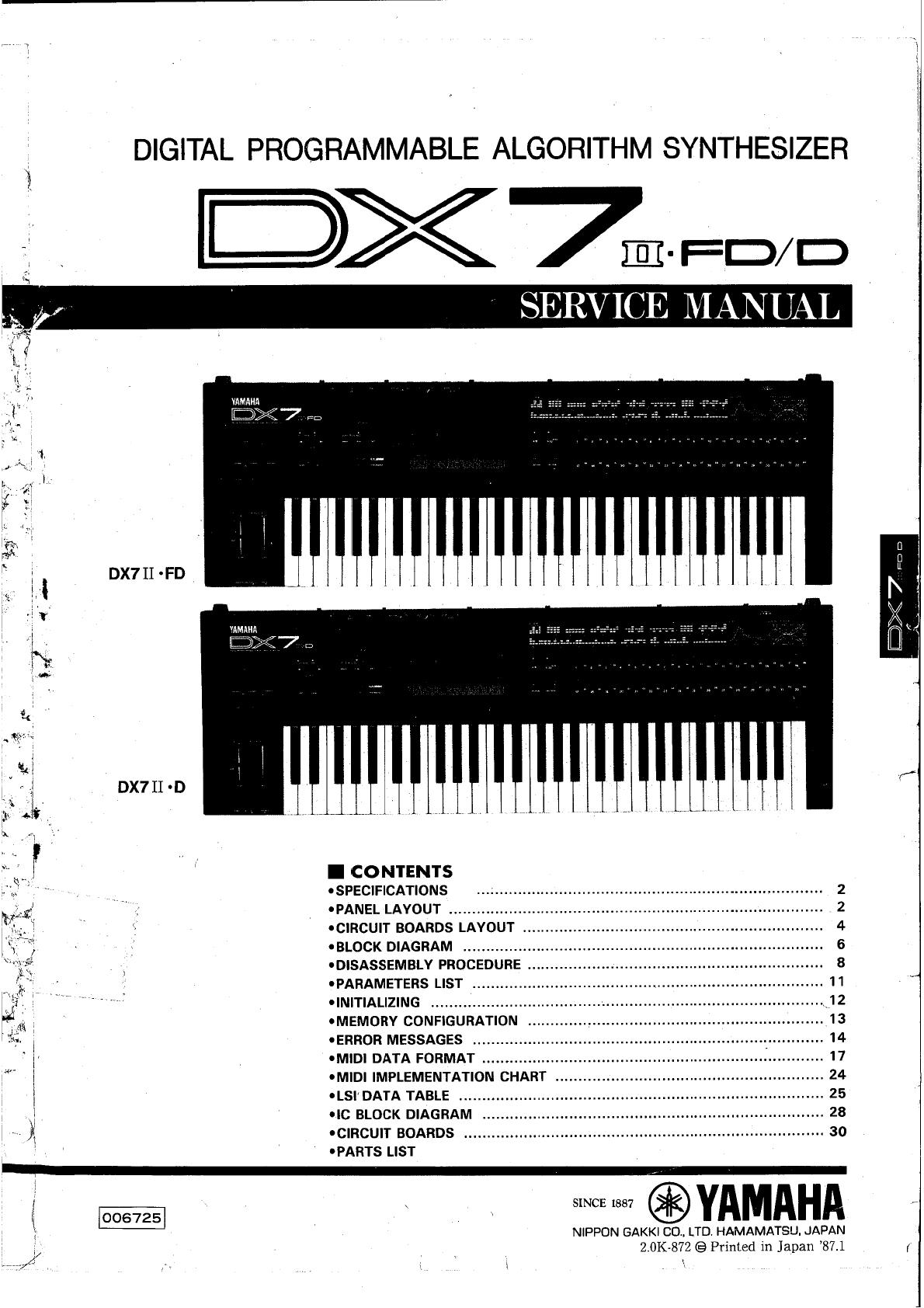 Yamaha Electronic Keyboard D Users Manual on